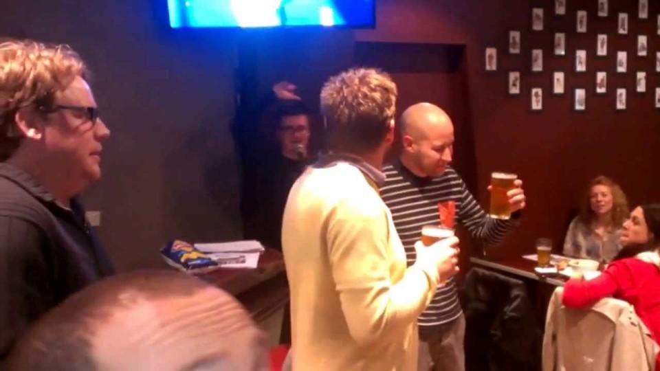 Beer Skulling contest